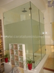 STANDARD SQUARE SHOWER ENCLOSURE WITH DECORATIVE FILM
