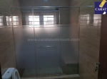 3-PANEL INLINE SHOWER ENCLOSURE WITH CARAT HEADER